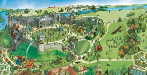 to jest mapa Warwick, pochodzi ze strony http://www.warwick-castle.com/explore-castle/map-and-overview.aspx